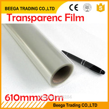 610mm*30m One Roll Transparence film Inkjet&Laser Printing Waterproof Transparency Film Screen Printing Transfer Film