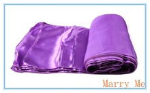 36pcs Satin Purple Table Runners Wedding Decoration Table Runner free shipping