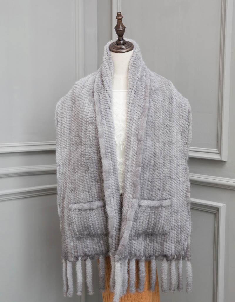 mink shawl 40 grey