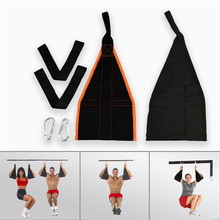 Fitness 2pc Sling Straps Abdominal Carver Hanging Belt Chin Up Sit Up Bar Pullup Heavy Duty Muscle Training Suspension Belt(China)