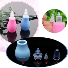 New 1Pc Silicone Baby Safety Nose Cleaner Vacuum Suction Children Nasal Aspirator new baby care diagnostic-tool Vacuum Sucker(China)