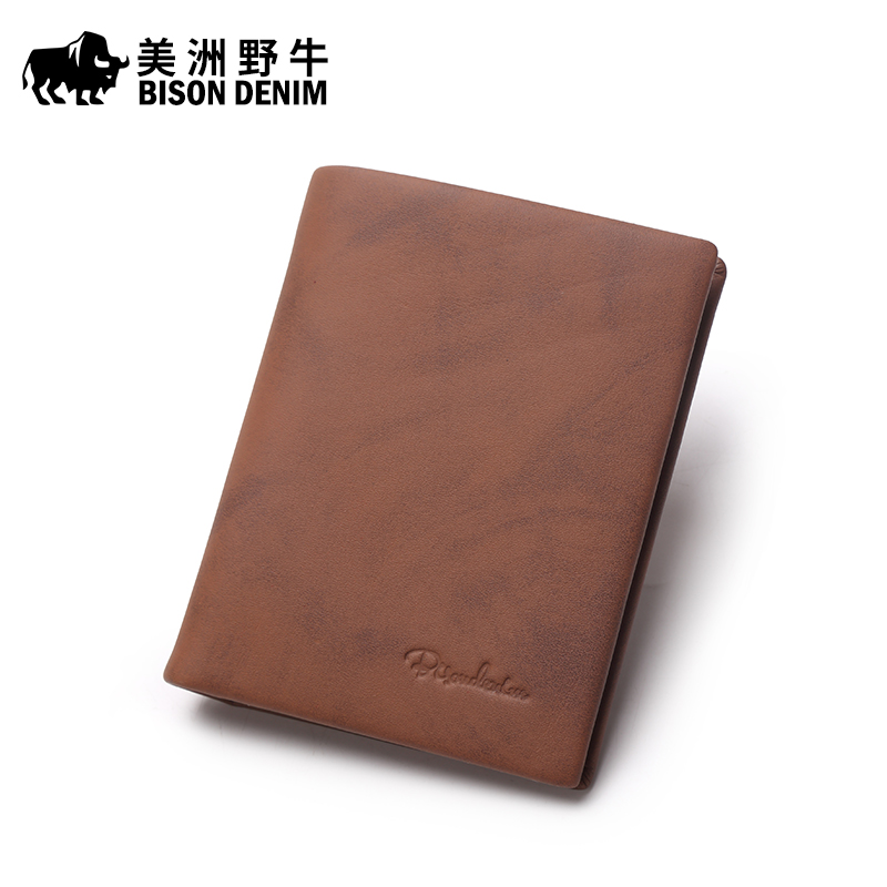 BISON DENIM High Quality Men Wallet Genuine Leather Cowhide Brand Credit Card Wallet Large Capacity Mens Wallet Free Shipping<br><br>Aliexpress