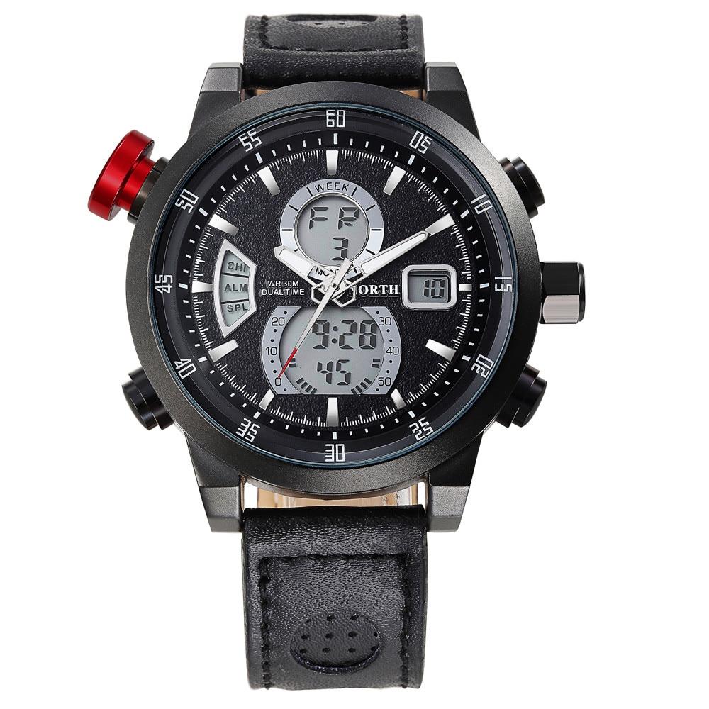 Perfect Gift North Fashion Calendar Men Quartz Wrist Watch Leather Band Watch  Levert dropship Dec29<br><br>Aliexpress