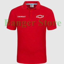 Chevrolet car logo Polo shirt 4S shop short sleeved polo shirt overalls women and mens