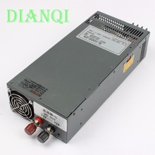 DIANQI S-1000-24 1000W 24V 42A power supply 220V or 110V INPUT Single Output Switching power supply for LED Strip light AC to DC(China)