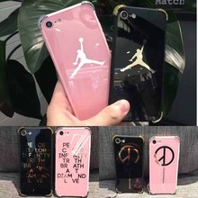 Lovers Case for iPhone 7 6 6S Plus 7plus NBA brand Michael Jordan fundas Hard Mirror Phone Case Cover for iPhone 6 6s Plus Cover
