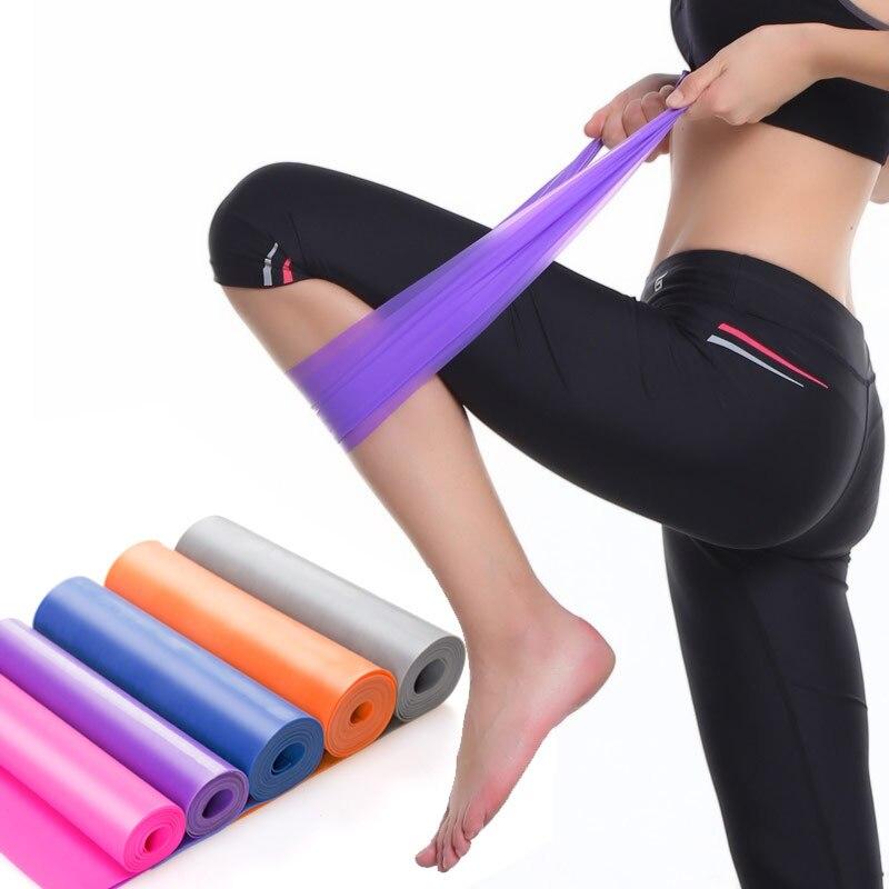 Band Elastic Resistance Fitness Yoga Exercise Pilates Workout Latex Training Gym