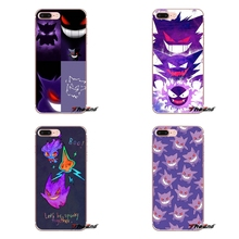 cute cartoon anime pokemon Gengar Apple iPhone X 4 4S 5 5S SE 5C 6 6S 7 8 Plus 6sPlus 6Plus 7plus 8plus Silicone Cases Cover