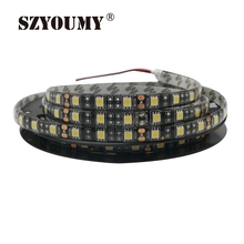 SZYOUMY 5050 LED Strips Black PCB 60LED/m DC12V IP65 Flexible Neon Lights White Warm White Red Green Blue RGB LED Tape 100M/Lot