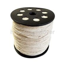 100 Meters 100% Natural Pure Cotton Rope Braided Twisted String Cord Twine Sash 2mm(China)