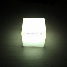 Free shipping 13CM Magic Dice CUBE LED illuminated bar table lamp waterproof rechargeable glowing led table night light(China)