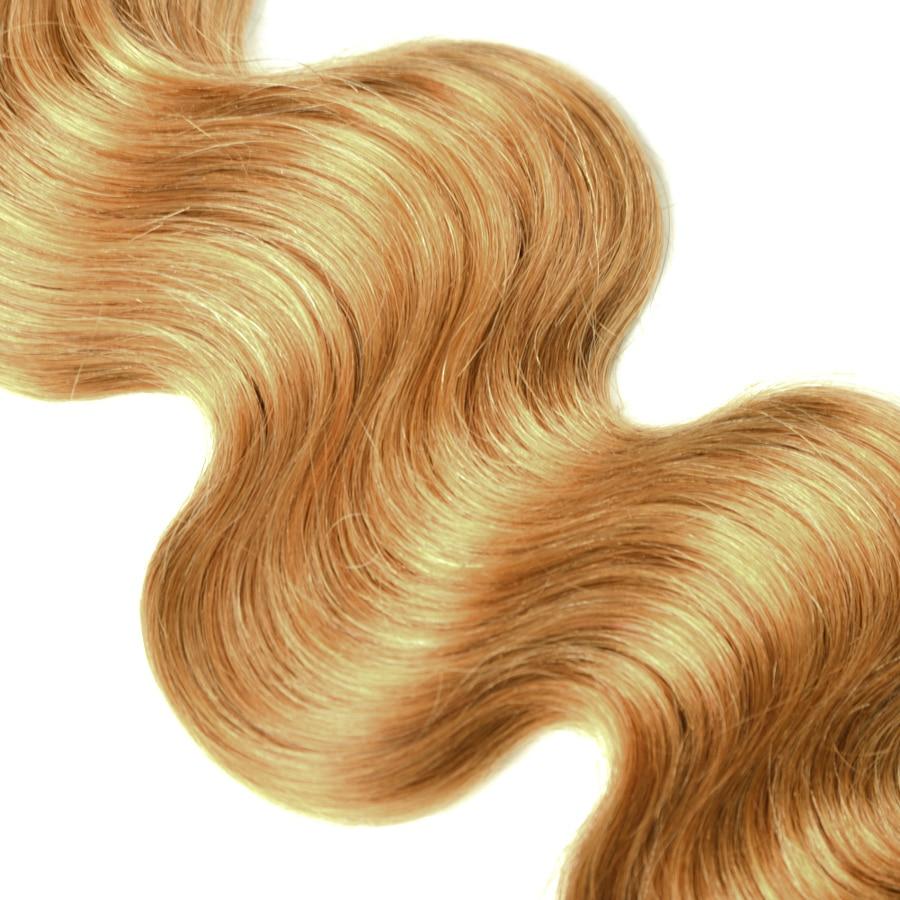 Mslynn Honey Blonde Brazilian Hair Weave Bundles Body Wave 1 Piece #27 Non-remy Human Hair Bundles 10-24inches Free Shipping