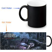 Avenged Sevenfold&A7X Custom Made Design Water Coffee Mug Novelty Gift Mugs Morphing Ceramic Mug 12 OZ Office Home Mugs(China)