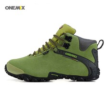ONEMIX 1058 new autumn winter Men's Women's outdoor Hiking sneaker leather waterproof Climbing shoes size 40-45(China)