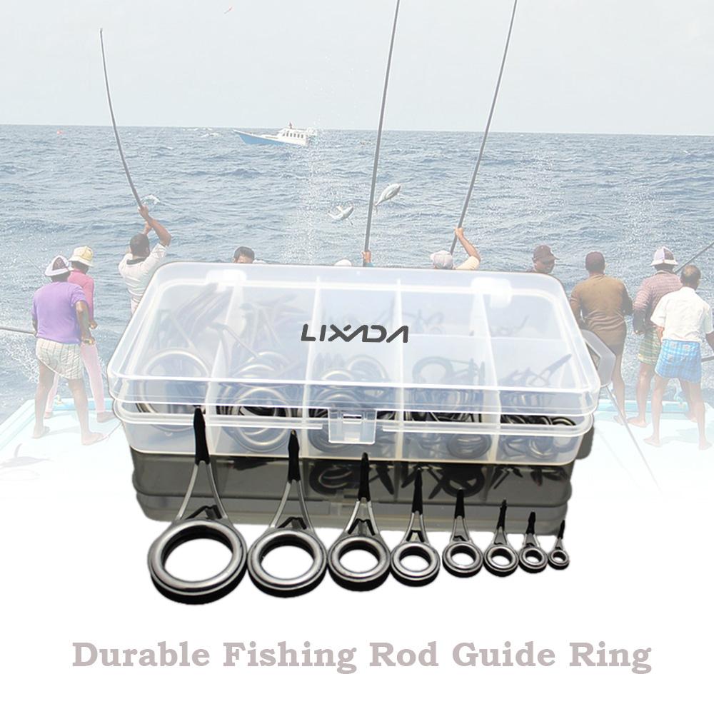 75 pcs lixada guide ring eye ceramic stainless steel with for Fishing rod eye repair