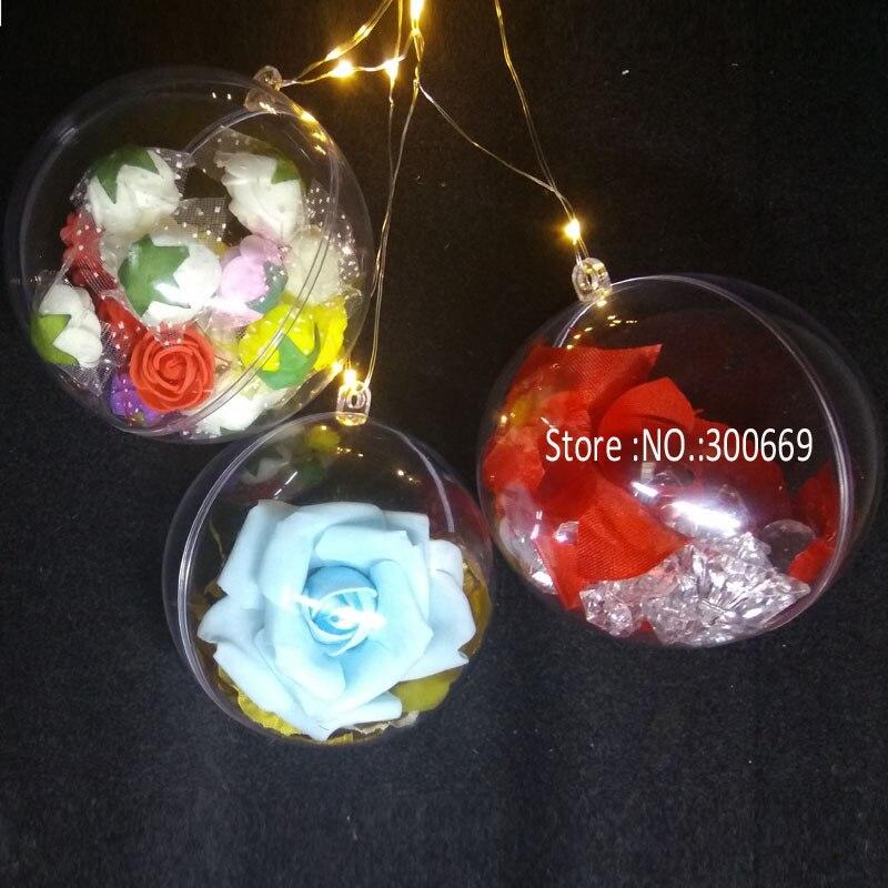 christmas clear plastic ball 2
