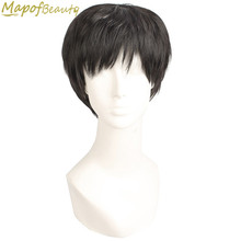 8 Style short Straight Natural Full wigs black Brown Middle Old Aged Men Elderly Heat Resistant Synthetic hair MapofBeauty(China)