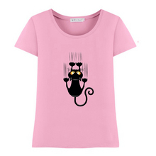 2017 summer naughty black cat 3D t shirt women lovely cartoon shirt Good quality comfortable brand casual tops 7 Colors