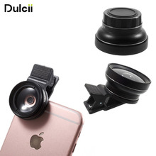 Buy DULCII 2-in-1 Universal Clip-on 37mm 0.45X Wide Angle Len + Macro Len Mobile Phone Camera Lens Kit iPhone Samsung etc for $10.79 in AliExpress store