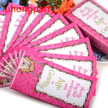 5packs Age is gravity Rose Red Pocket toilet tissue napkin paper printed event handkerchief wedding birthday party supplies(China)