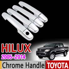 for Toyota Hilux 2005 - 2014 Chrome Handle Cover Trim AN10 AN20 AN30 SR5 2007 2008 2010 2013 Accessories Stickers Car Styling(China)
