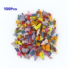 MACH New 100pcs Painted Model Train People Figures Scale N (1 to 150)(China)