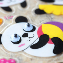 High Quality Special Emoji Reward Kids Children Toys Cute Animals Pet Lovely Giant Pandas Scrapbooking Googly Eyes Stickers 09-6(China)