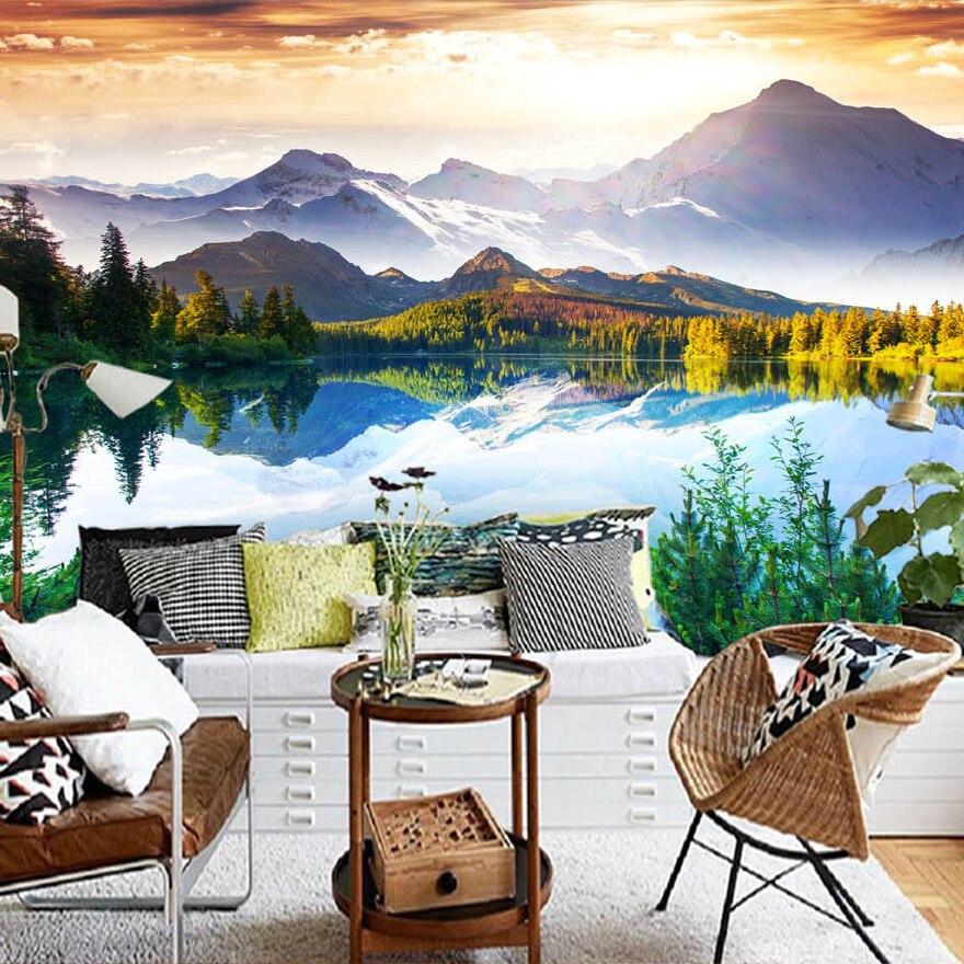 Custom 3D Photo Wallpaper Modern HD Natural Landscape Photography Background Decorative Painting Murals Living Room Wallpaper<br><br>Aliexpress