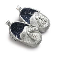 Newborn Princess Non-slip Learning Shoes Baby Boy Girl Pu Tassel Pendant Leather Baby Moccasins Shoes(China)