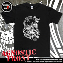Agnostic Front Hardcore Band Skull Printing Cotton T-shirt Tee T Clothing