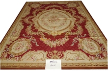 xpa6004 8x10 A+++ Design Beautiful Red Rose Beige French Country Aubusson Rug gc8aubyg13(China)
