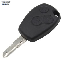 DANDKEY 10PCS/LOT 3 Button Remote Key FOB Uncut Blank Blade For Renault Clio Modus Master Twingo