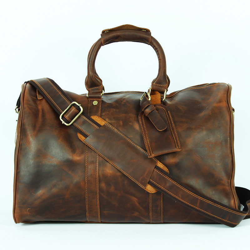 Genuine Leather mens duffle bag tote travel bag one shoulder handbags Luggage Weekend Tote Big luxury brand masculina designer<br><br>Aliexpress