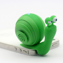 New Portable 3.5mm Audio Plug Mobile Phone Speaker 3.5mm Stereo Sound Snail Speaker With Dock Function.(China)