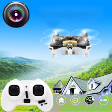 2.4G CX-10C Mini RC Drone with Camera 360-Eversion Remote Control Helicopter 4 CH 6 Axis Gyro Quadcopter Flying Plane RC Toys(China)