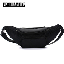 2017 NEW fashion black polyester zipper women's waist bag belt bag men travel money belt fanny packs bag waist pack women bag