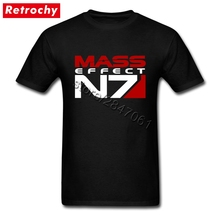 2017 Best mass effect T shirt n7 Shirt Tees Man Unique Graphic Short Sleeve Thanksgiving Day Video Game T-shirt(China)