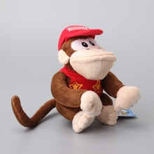 10 Pcs/Lot Super Mario Bros Diddy Kong Cute Plush Toy Stuffed Dolls Gift to Children 16 CM