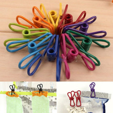 10Pcs Metal Clamp Clothes Laundry Hangers Strong Grip Washing Line Pin Pegs Clips AL3273