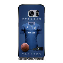 Custom football soccer Jersey EVERTON Cover Case for Samsung Galaxy S3 S4 S5 mini S6 S7 edge plus active Note 2 3 4 5 7 Silicon