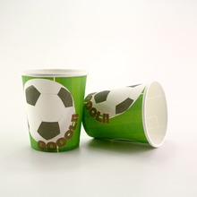 Soccer Paper Cup Glass 10pcs/lot Boy's favor Football Fans Theme Party Supplies Children favor Birthday Party Decorations(China)