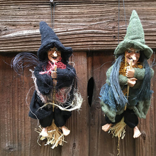 Halloween Party Supplies Decorations Flying Witch Pendants Home Bars Haunted House Horrible Doll Decorations(China)