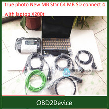Hot MB Diagnostic tool with laptop x200t MB Star New Compact 4 SD C4 2017/09 Version with vediamo SD Connect C4 with WIFI