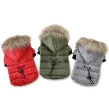 5 Size Winter Warm Cotton Clothes For Small Dogs Soft Fur Hoodie Puppy Jacket Pet Dog Coat Dog Clothing For Yorkshire Chihuahua(China)