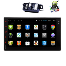 Capacitive No-DVD GPS Stereo Navigation Head Unit WiFi OBD2 Audio PC Player 4-CORE Android 5.1 Car Radio Touchscreen