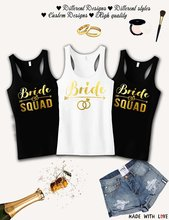 Personalized GOLD wedding Bride Squad bridesmaind t shirts Bachelorette  tanks tops gifts bridal vests party favors singlets tees 0bfa1595858a