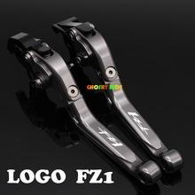 fits For YAMAHA FZ1 Fazer 2006-2013 Motorcycle Adjustable Folding Extendable Brake Clutch Lever logo FZ1 Titanium