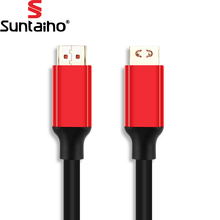 Suntaiho HDMI to HDMI Cable HDMI 2.0 4K 3D Gold Plated Plug Cable 50CM 1M 2M 3M 5M for PS3 projector HD LCD TV Computer Cable(China)