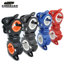 360 Degree Rotation Cycling Bike Flashlight Holder Bicycle Light Torch Mount LED Head Front Light Holder Clip Bike Accessories