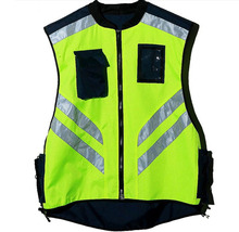 Riding reflective vest safety reflective jacket windproof Fluorescent yellow and orange M-XL customize logo printing V120026